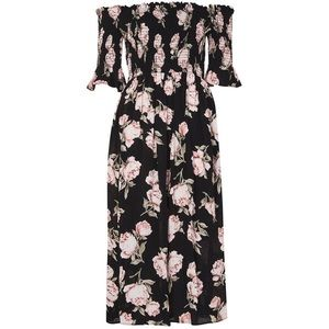 Topshop Off shoulder Bardot midi dress